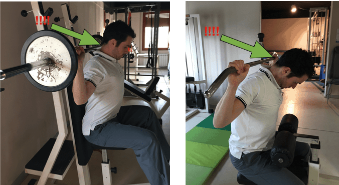 esercizi evitare in palestra per cervicale