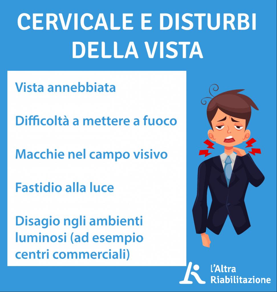 Cervicale, disturbi e problemi alla vista