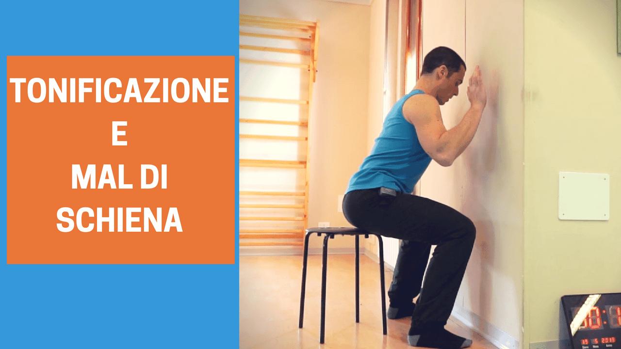 5 esercizi di TONIFICAZIONE per chi ha MAL DI SCHIENA - L..