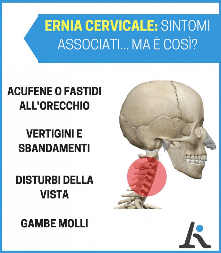 Ernia cervicale: sintomi associati