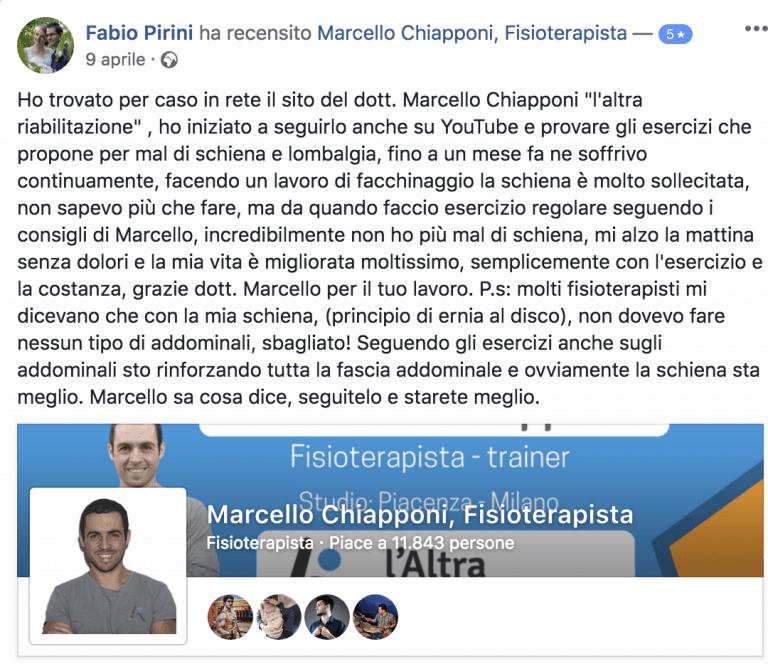 Testimonianza di Fabio Pirini
